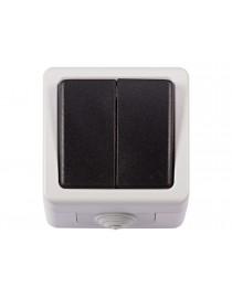 Блок двойной выключатель Luxel DEBUT (6503)