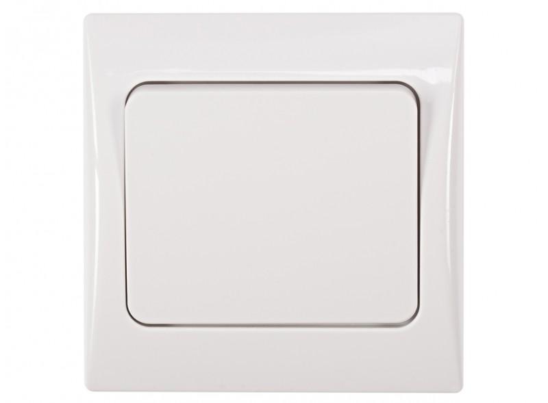 Выключатель одинарный FAIRY (4002) белый