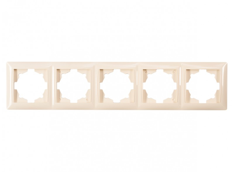 Рамка 5-я горизонтальная PRIMERA (3325) крем