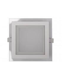 LED-панель Luxel со стеклянным декором 160х160х30мм 220-240V 12W (DLSG-12N 12W)