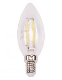 Филаментная светодиодная лампа Luxel 071-H C35 4W E14 2700K 440 lm 4 нити  (071-H 4W)