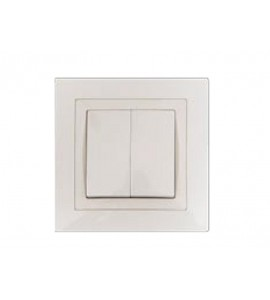 Выключатель двойной BRAVO (5003) белый