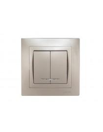 Выключатель двойной с подсветкой BRAVO (5406)