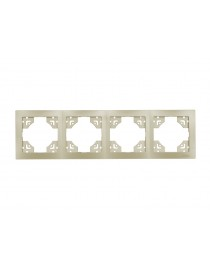 Рамка 4-я горизонтальная BRAVO (5624) платина