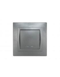 Выключатель с подсветкой Luxel BRAVO (5705) графитовый