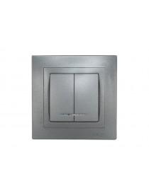 Выключатель двойной с подсветкой BRAVO (5706)