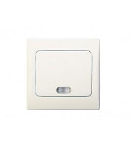 выключатель с подсветкой FAIRY (4005) белый