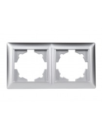 Рамка 2-я горизонтальная PRIMERA (3522) серебро