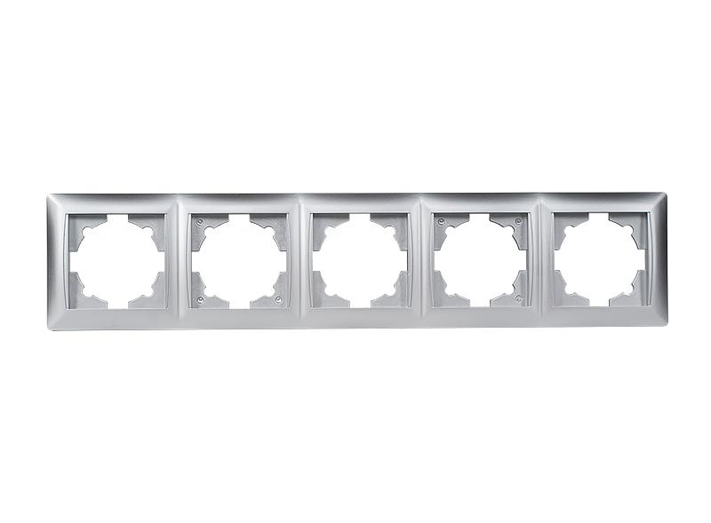 Рамка 5-я горизонтальная PRIMERA (3525) серебро