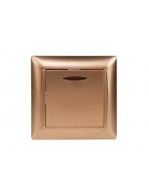 Выключатель с подсветкой Luxel PRIMERA (3605) золотой