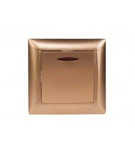 Выключатель с подсветкой PRIMERA (3605) золото
