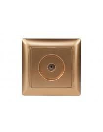 Розетка телевизионная PRIMERA (3609) золото