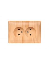 Розетка двойная PRIMERA (3807) сосна