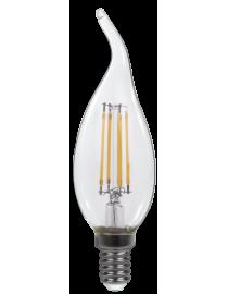 Филаментная светодиодная лампа Luxel 074-H (filament) 4W E14 2700K 440 lm 4 нити