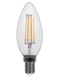 Филаментная светодиодная лампа Luxel 071-H C35(filament) 4W E14 2700K 440 lm 4 нити  (071-H C35(filament) 4W)