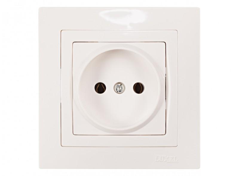 Розетка одинарная BRAVO (5001) белый