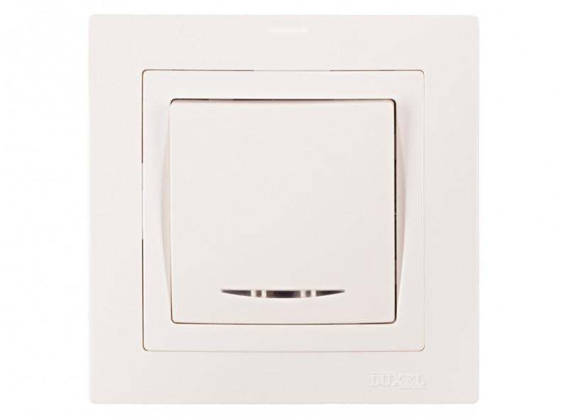 Выключатель с подсветкой BRAVO (5005) белый