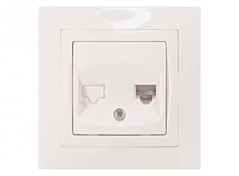 Розетка телефонная BRAVO (5010) белый