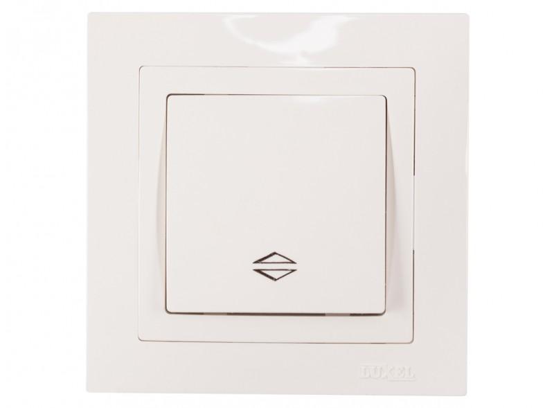 Выключатель проходной BRAVO (5015) белый