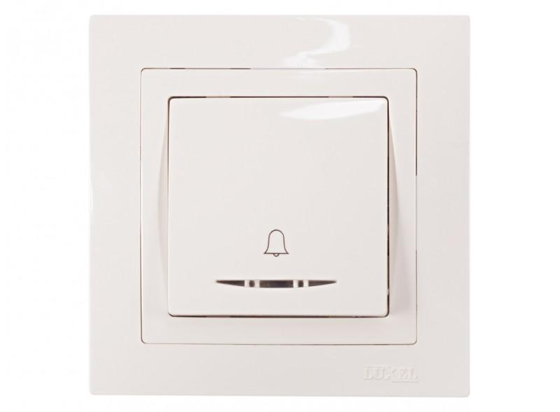 Кнопка звонка с подсветкой BRAVO (5018) белый