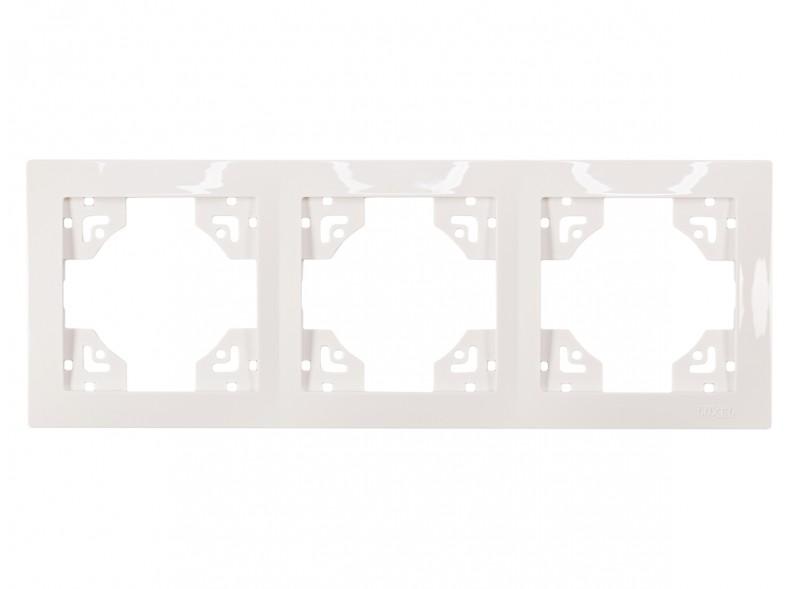 Рамка 3-я горизонтальная BRAVO (5023) белый