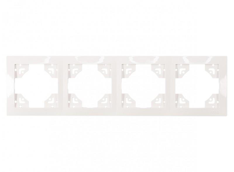 Рамка 4-я горизонтальная BRAVO (5024) белый