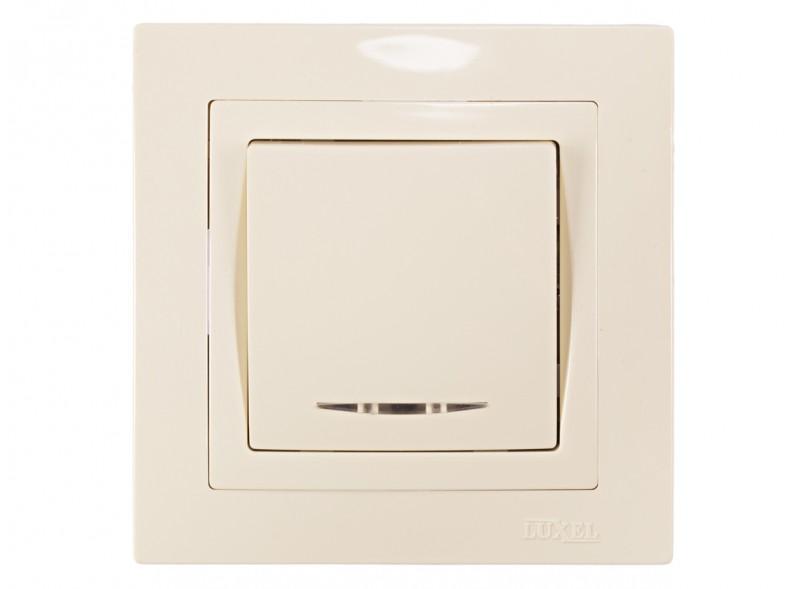 Выключатель с подсветкой BRAVO (5305) крем