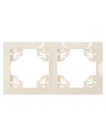 Рамка 2-я горизонтальная Luxel BRAVO (5322) кремовая