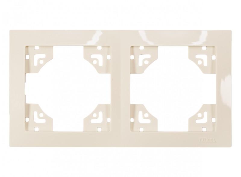 Рамка 2-я горизонтальная BRAVO (5322) крем
