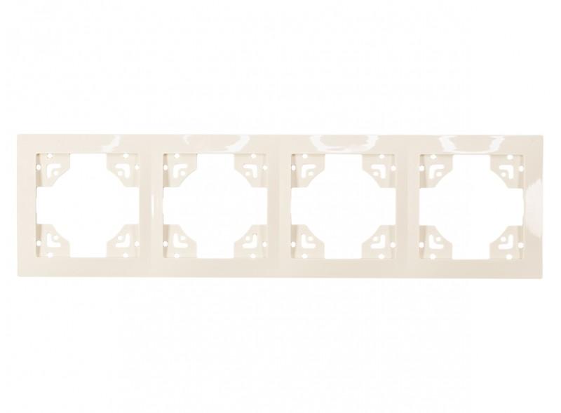 Рамка 4-я горизонтальная BRAVO (5324) крем