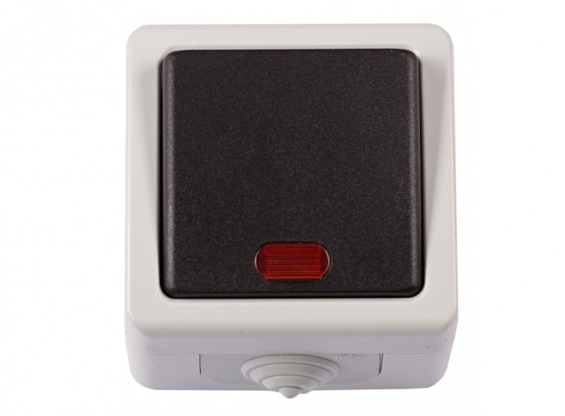 Блок выключатель с подсветкой DEBUT (6505)