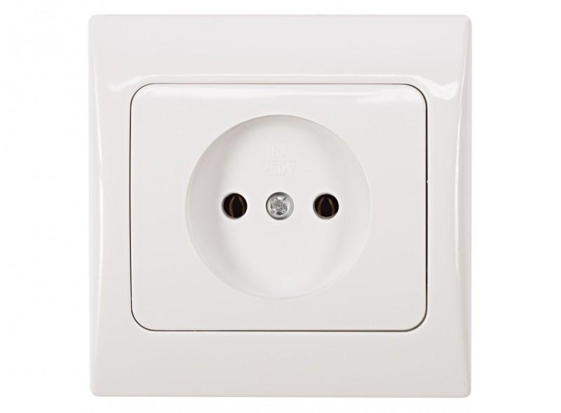 розетка одинарная FAIRY (4001) белый
