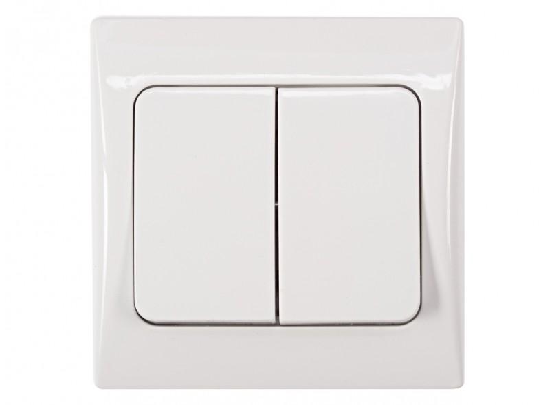 двойной выключатель FAIRY (4003) белый