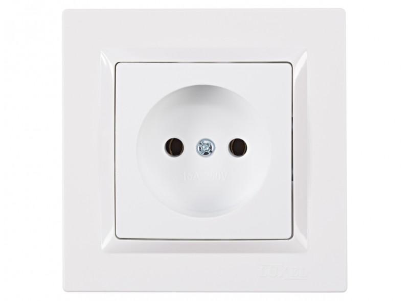Розетка одинарная JAZZ (9001) белый