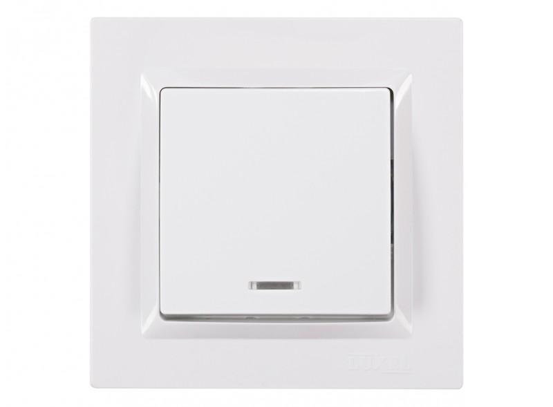 Выключатель с подсветкой JAZZ (9005) белый