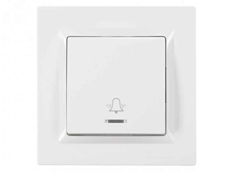 Кнопка звонка с подсветкой JAZZ (9018) белый