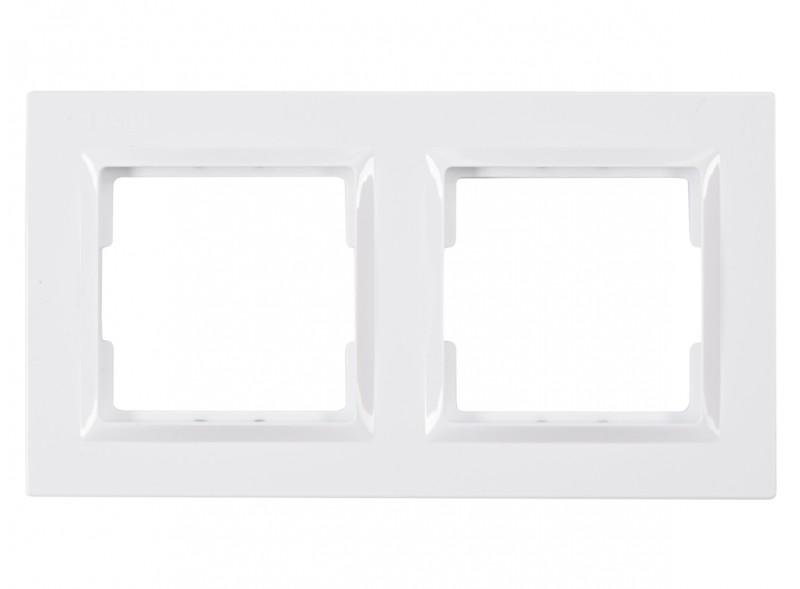 Рамка 2-я горизонтальная JAZZ (9022) белый