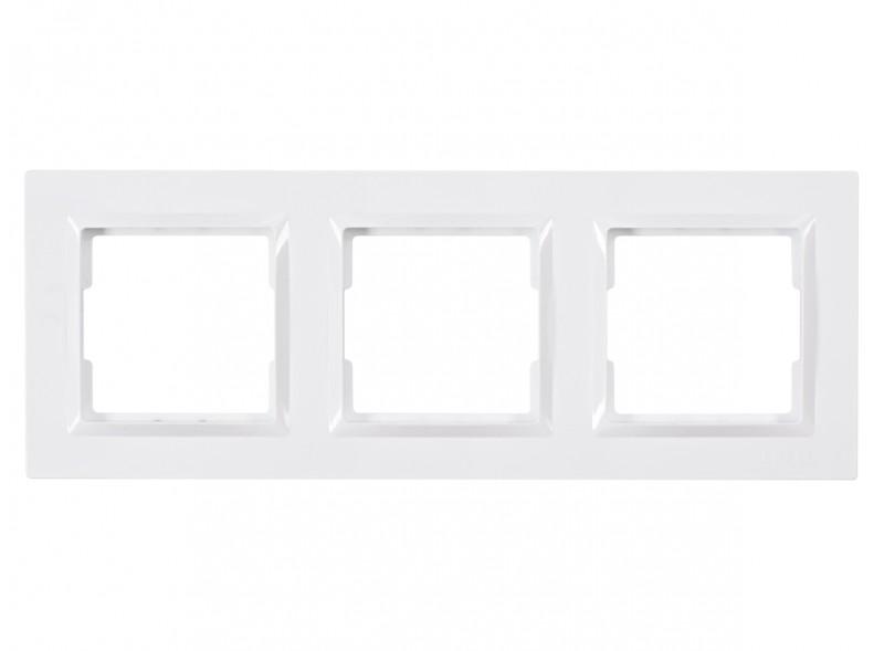 Рамка 3-я горизонтальная JAZZ (9023) белый