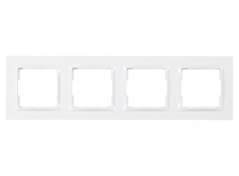 Рамка 4-я горизонтальная JAZZ (9024) белый