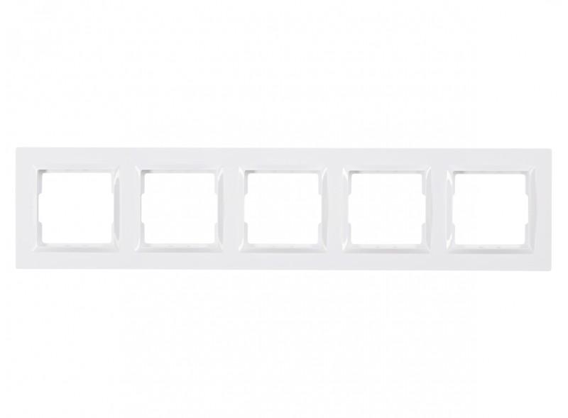 Рамка 5-я горизонтальная JAZZ (9025) белый