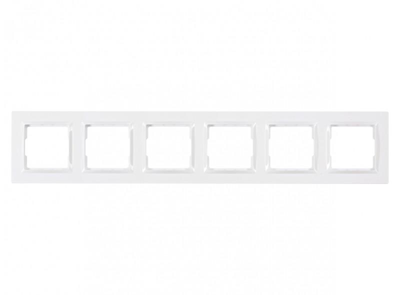 Рамка 6-я горизонтальная JAZZ (9026) белый