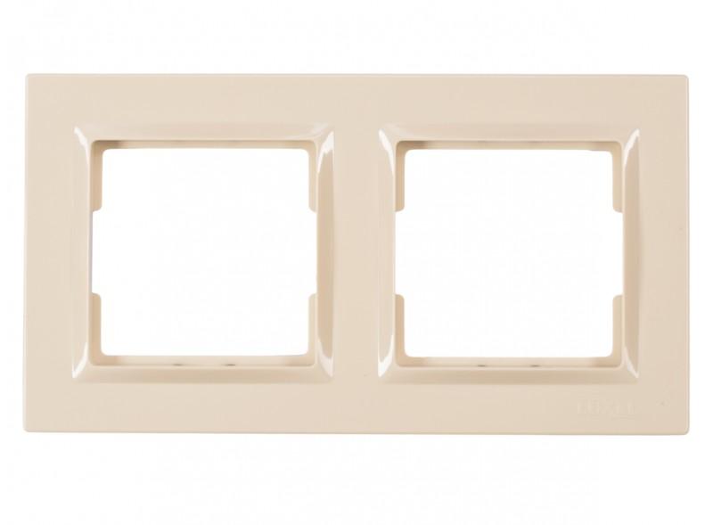 Рамка 2-я горизонтальная JAZZ (9322) крем