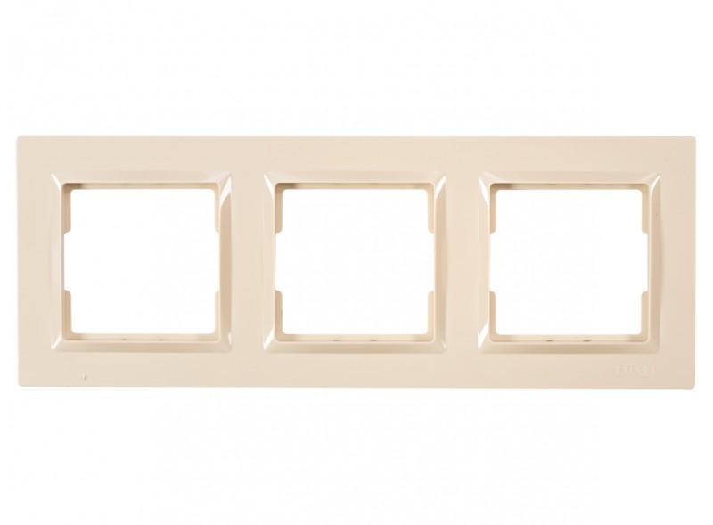 Рамка 3-я горизонтальная JAZZ (9323) крем