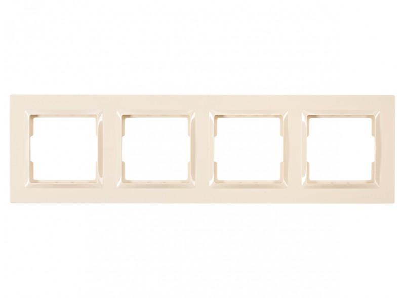 Рамка 4-я горизонтальная JAZZ (9324) крем