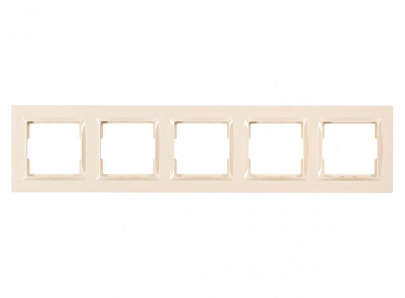 Рамка 5-я горизонтальная JAZZ (9325) крем