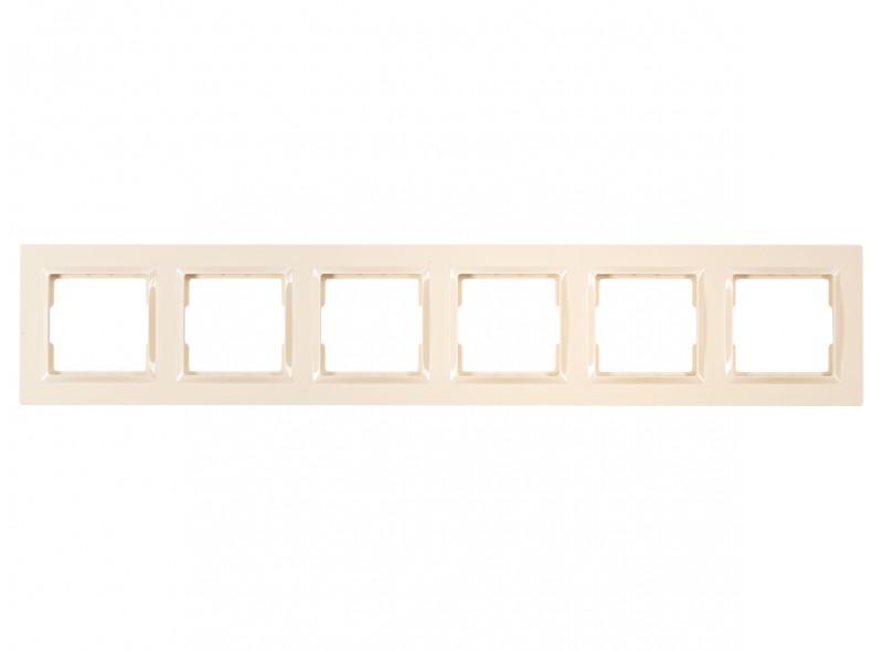 Рамка 6-я горизонтальная JAZZ (9326) крем