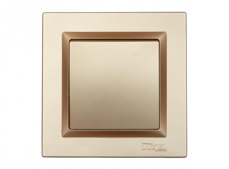 Выключатель одинарный Luxel JAZZ (9602) Бронзовый