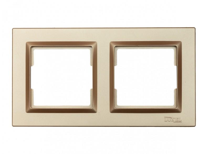 Рамка 2-я горизонтальная Luxel JAZZ (9622) Бронзовая