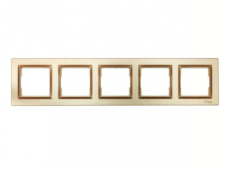 Рамка 5-я горизонтальная Luxel JAZZ (9625) Бронзовая