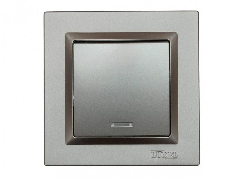 Выключатель с подсветкой Luxel JAZZ (9705) Графитовый